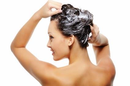 washing hair shampoo