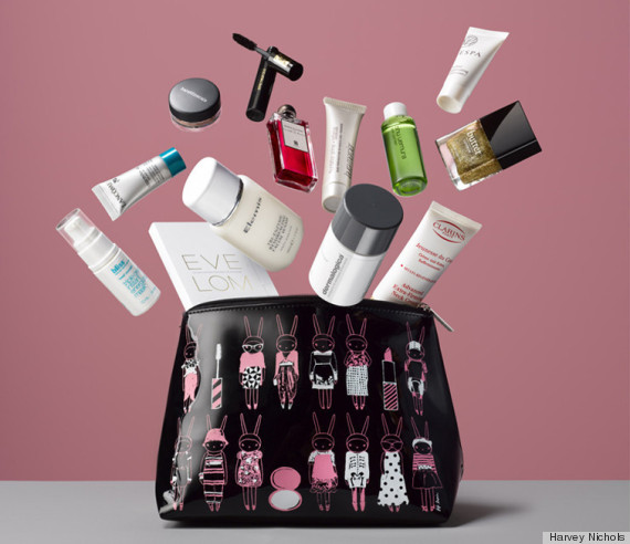 Makeup bags!!  And an affordable way to get Estee Lauder & Clinique makeup!!