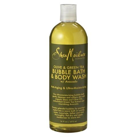 shea moisture olive oil green tea avocado bubble bath body wash