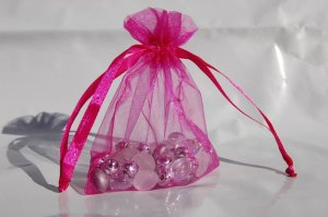100pcs-HOT-PINK-organza-gift-jewelry-bags-pouch-wedding-favor