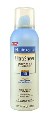 neutrogena sunblock suncreen spf 45