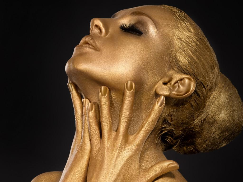 Gold Shimmer Body Paint