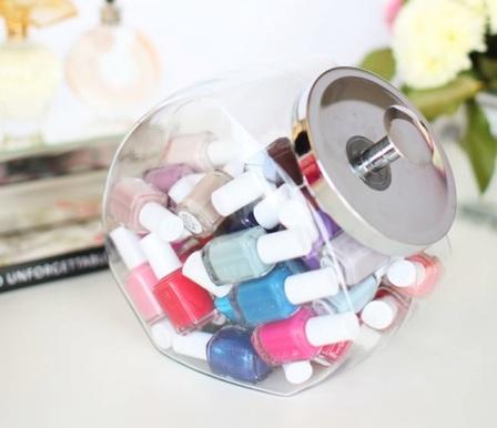 nail polish cookie jar