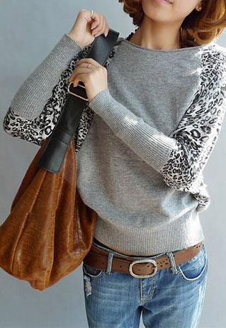 animal print sweater purse