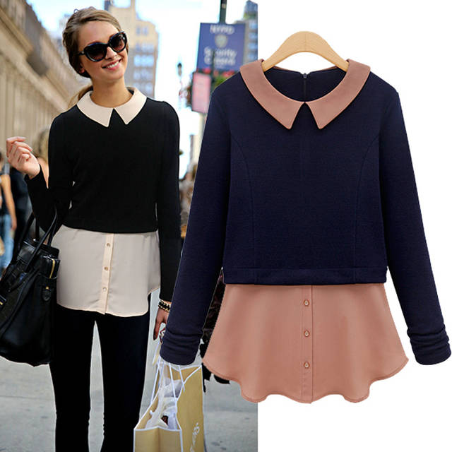 blouse and sweater