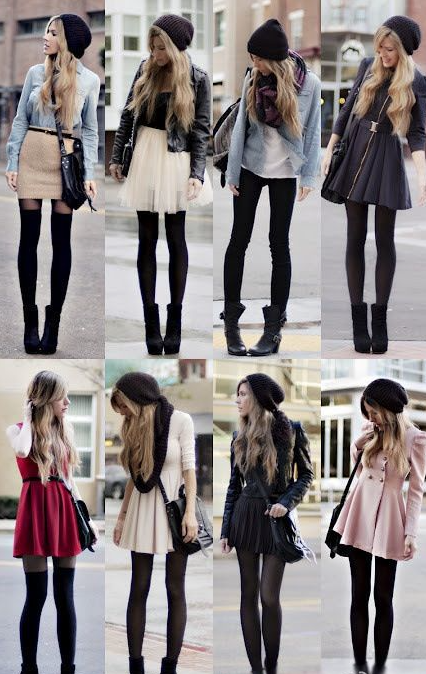 dresses leggings stockings