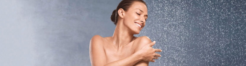 woman shower