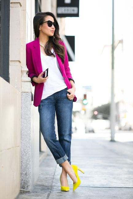 contrast colors outfit