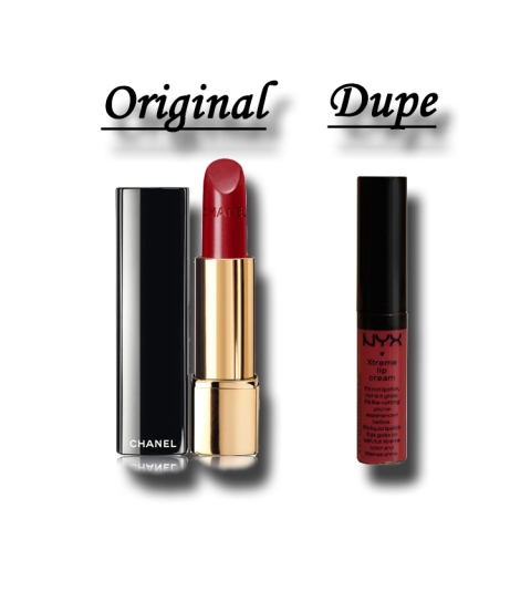 chanel rouge allure laque vs. nyx xtreme lip cream absolute red.jpg