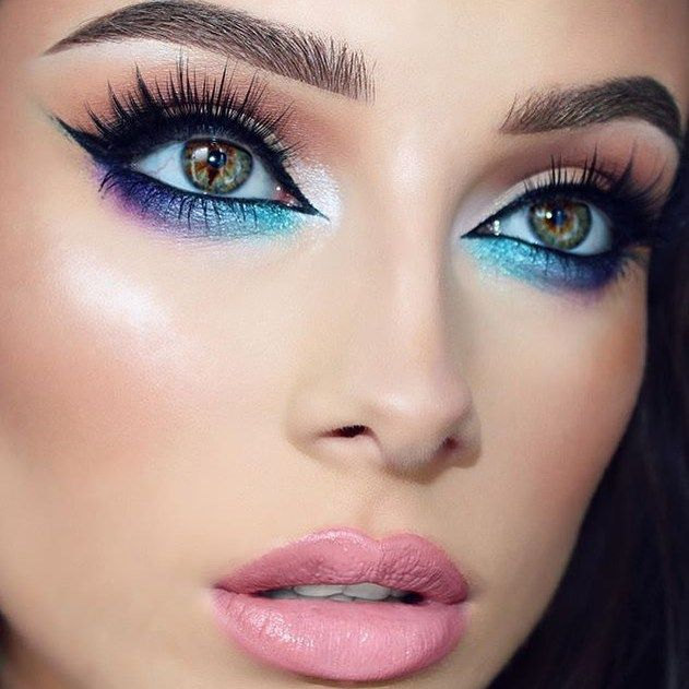 iridescent holographic makeup