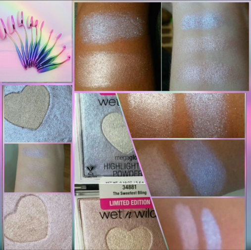 wet n wild megaglow highlighting powder swatches