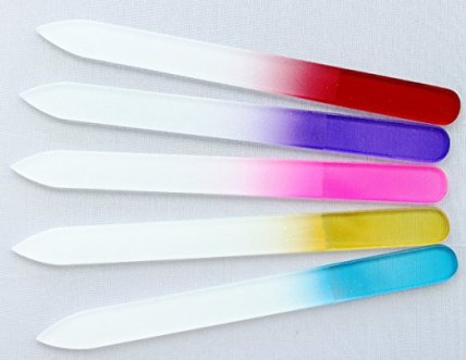 5 crystal nail files