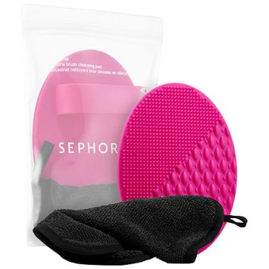 sehora collection polish up silicone brush cleansing pad