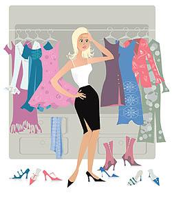woman closet clothing