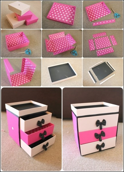 Easy To Make Makeup Storage Using Shoe Boxes Find Fun Art Easy Crafts Step By Step Easy Crafts Step By Step