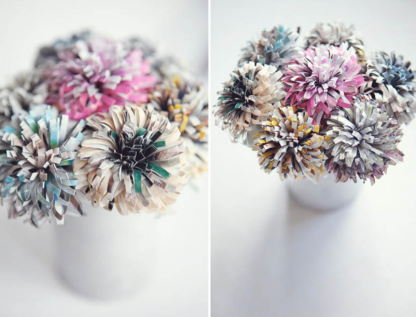 Recycled Magazine flowers