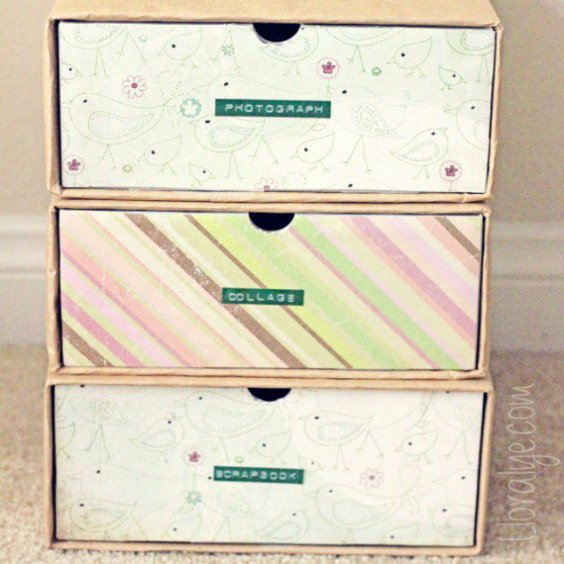 shoebox organize boxes