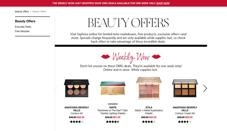 sephora weekly wow