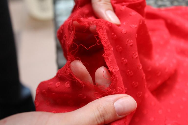 torn blouse clothing