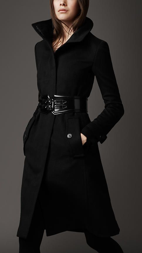 Coat with statement belt 2