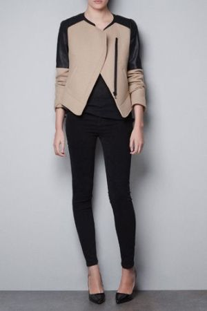 jacket with pleather