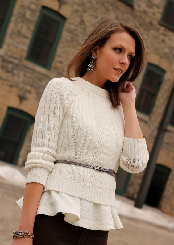 sweater with peplum